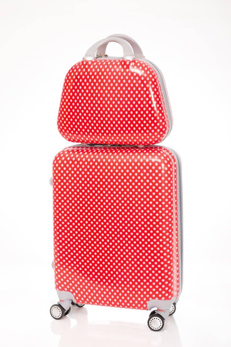 db3132655 Maleta Dura de cabina low cost modelo Lunares con un diseño muy juvenil, es  una maleta dura de cuatro ruedas, ideal para viajar cómodamente.
