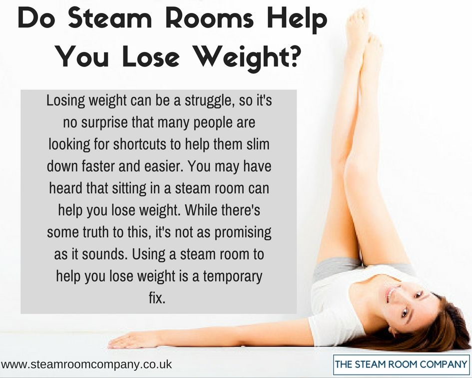 does a steam room help you lose weight