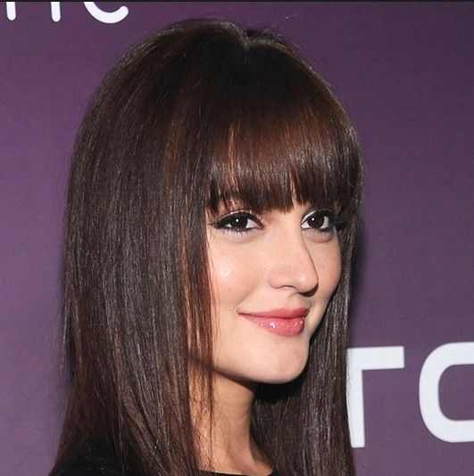 3 Fabulous Long Straight Hair With Blunt Bangs Pretty Designs Straight Brunette Hair Medium Length Hair Styles Hairstyles With Bangs