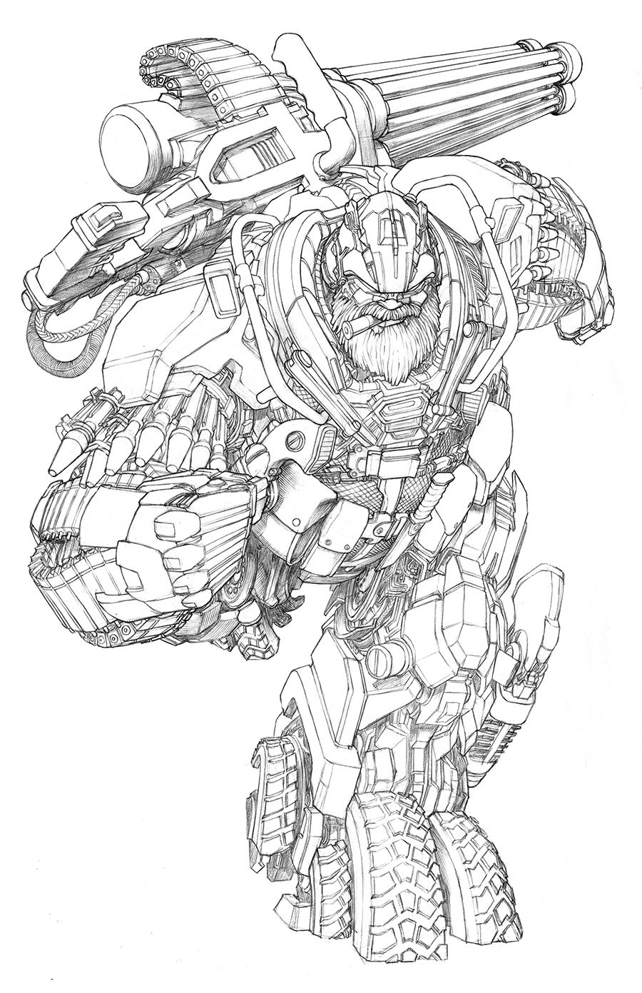 Awesome Hound condept packaging art for Transformers : Age of Extinction — Gregory Titus Illustration