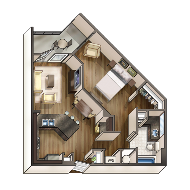 one bedroom one bath apartment nashville One bedroom