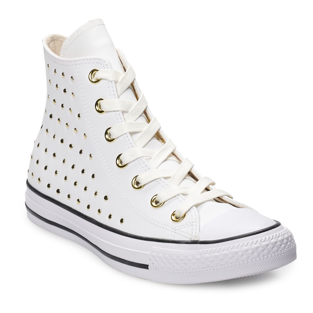 5f3d8d6207b8 Women's Converse Chuck Taylor All Star Leather High Top Shoes, Size: 8,  Natural