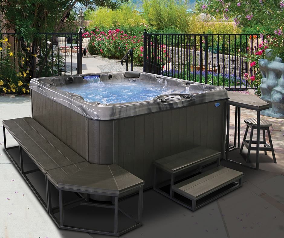The Cal Metro Surround Conveniently Features Independent Movable Components Which Can Be Used To Create Hundreds Of Differe Spa Hot Tubs Backyard Spa Hot Tub