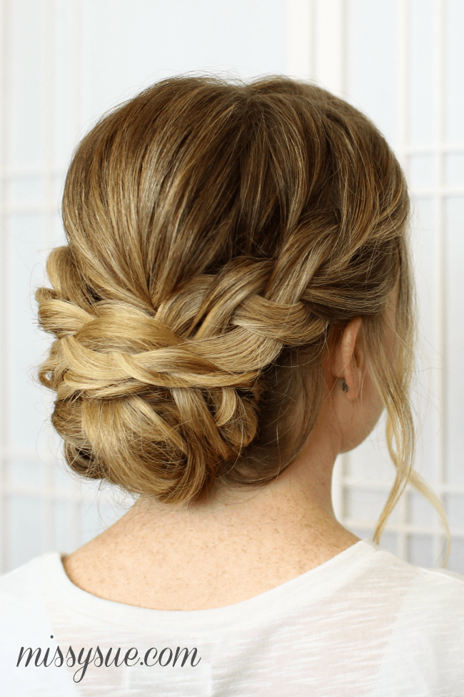 Soft Bridal Updo Braids Hairstyle