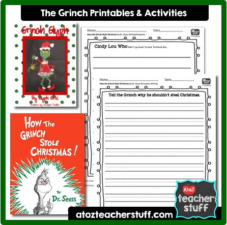 How The Grinch Stole Christmas Lesson Plans Printables And Activities Christmas Lesson Plan Christmas Lesson Classroom Christmas Activities