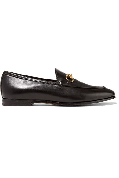 Jordaan horsebit detailed leather loafers | Leather slip on