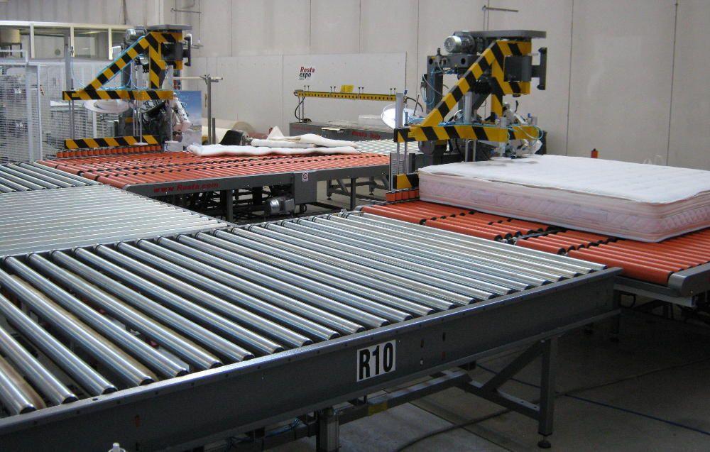 Produzione Materassi.Linee Personalizzate Automatizzate Per La Produzione Di Materassi