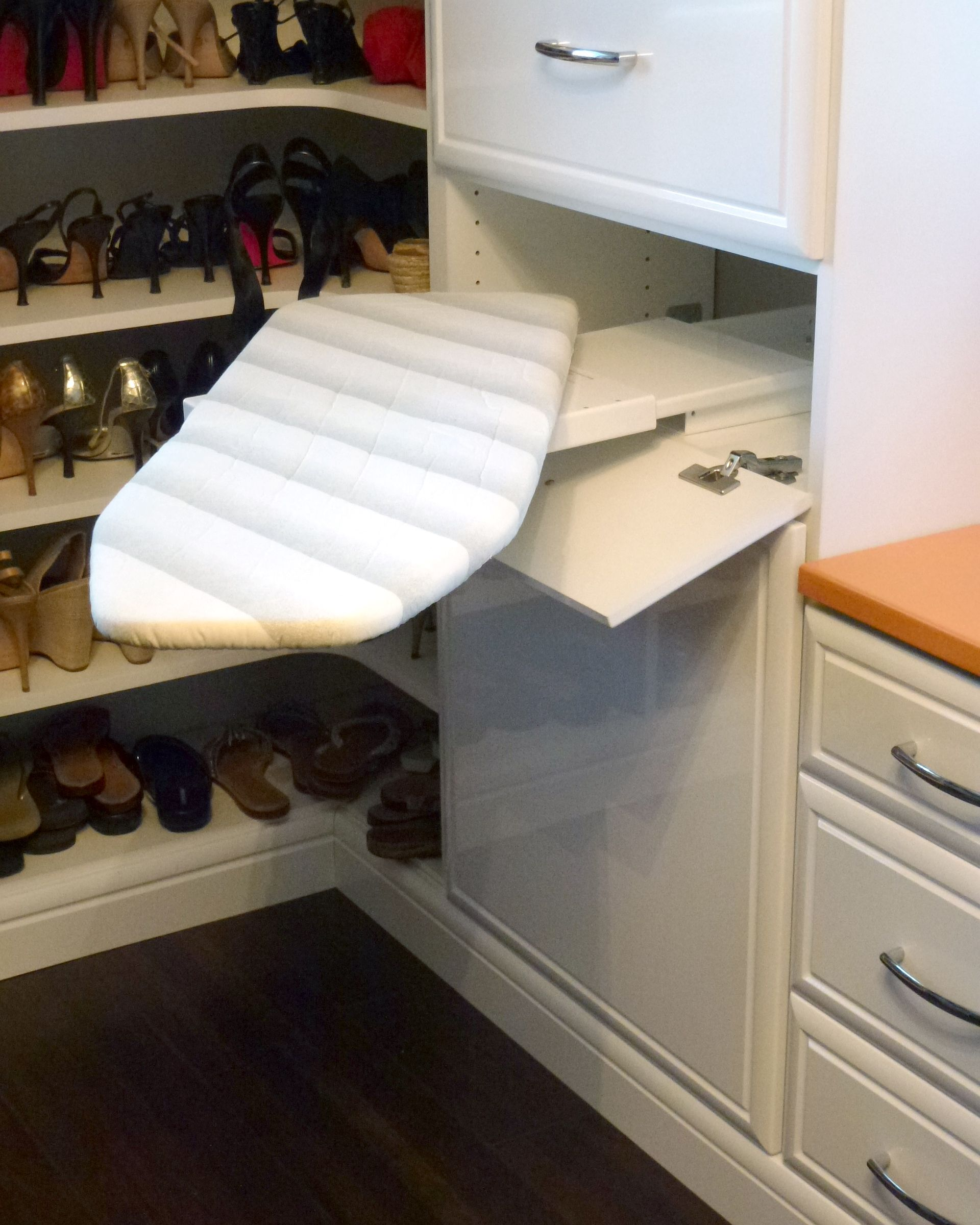 Cool Little Folding Ironing Board Fold Pivot And Stash Away In