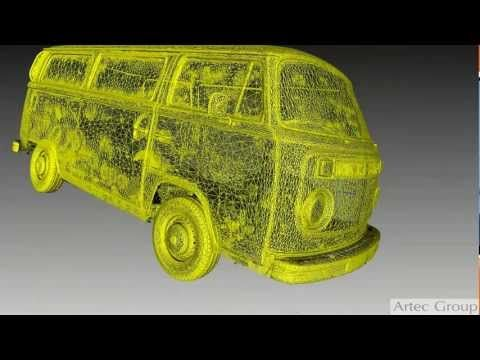 ▶ Scanning a VW bus with Artec 3D Scanner - YouTube.  The iconic 70s' Volkswagen microbus, beloved by hippies all over the world, was scanned with Artec Eva. Scanning took one day. Post processing took three days. www.artec3d.com buy a scanner today at http://objexunlimited.com/objex/objexunlimited/services/#tab-id-2