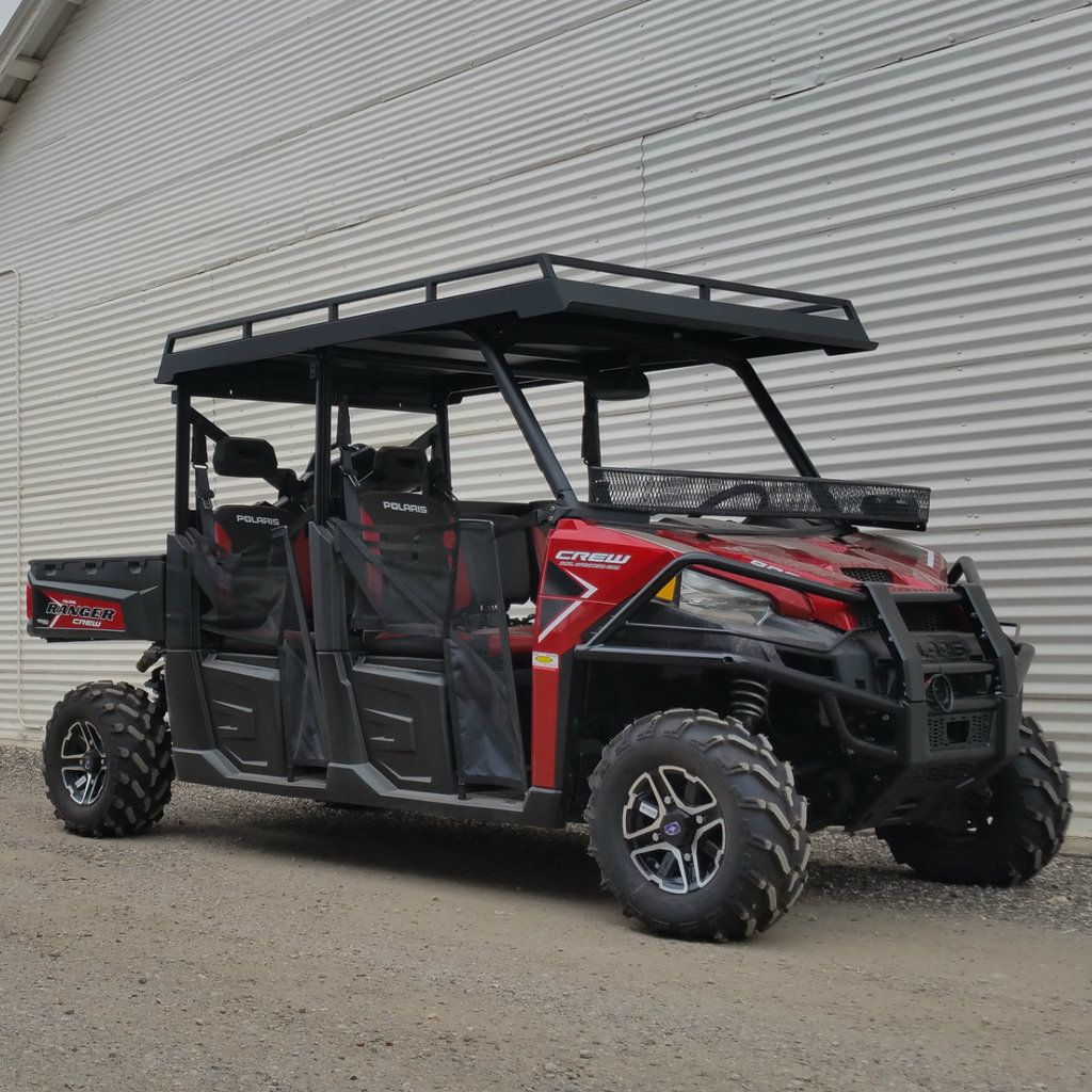 2016 Polaris Ranger 900 Crew Metal Roof Extended Roof Version Shown Larger Front Lip Extends An Extra 10 Inches Forw Polaris Ranger Polaris Ranger 900 Ranger