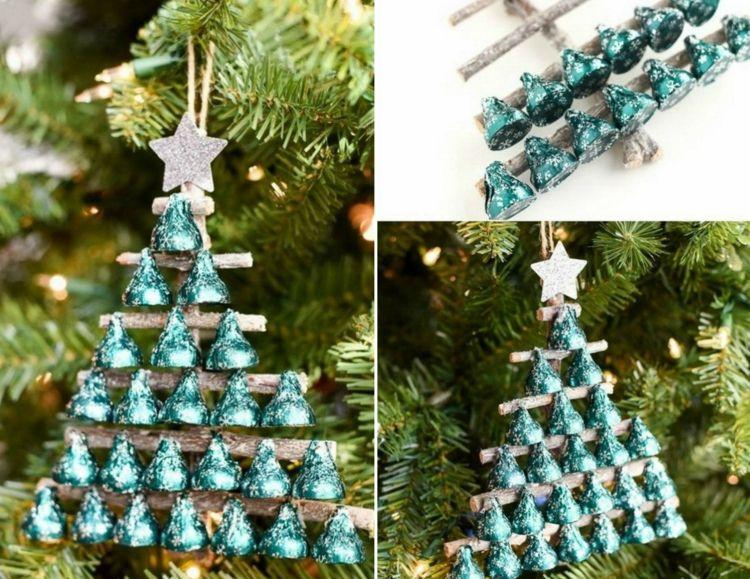 süßigkeiten geschenke weihnachten baumschmuck selber