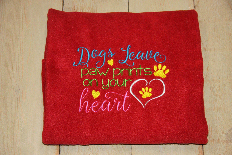 REVERSIBLE Custom Dog Blanket Personalize Pet Blanket