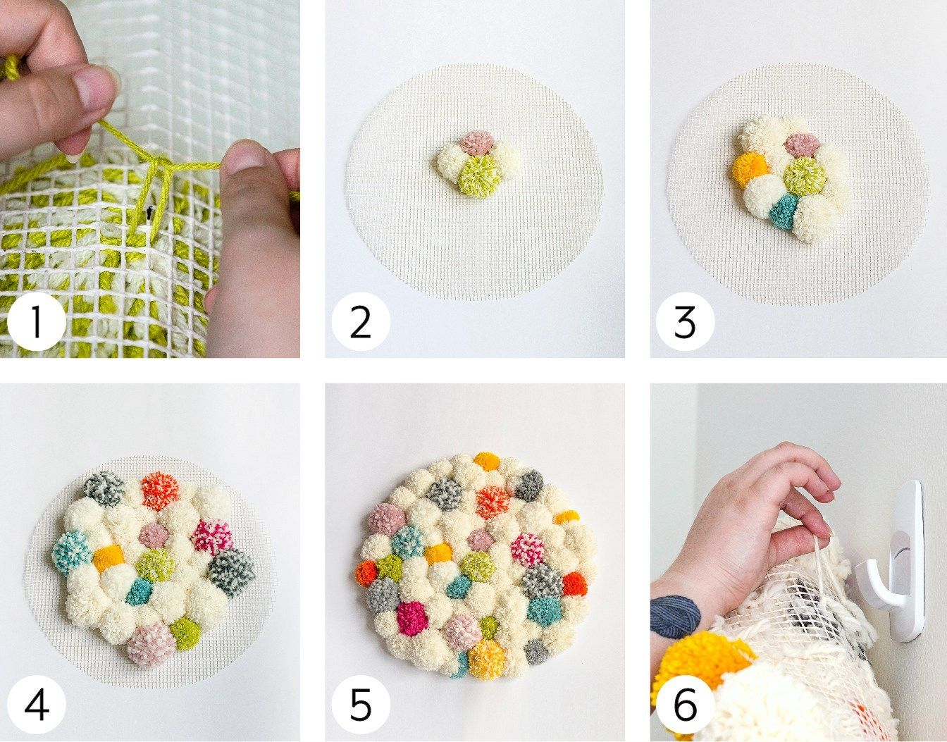 How to make a pompom wall hanging | Yarnspirations | Free Pattern ...