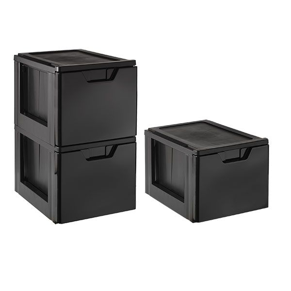 Black Stackable Storage U0026 File Drawer | The Container Store