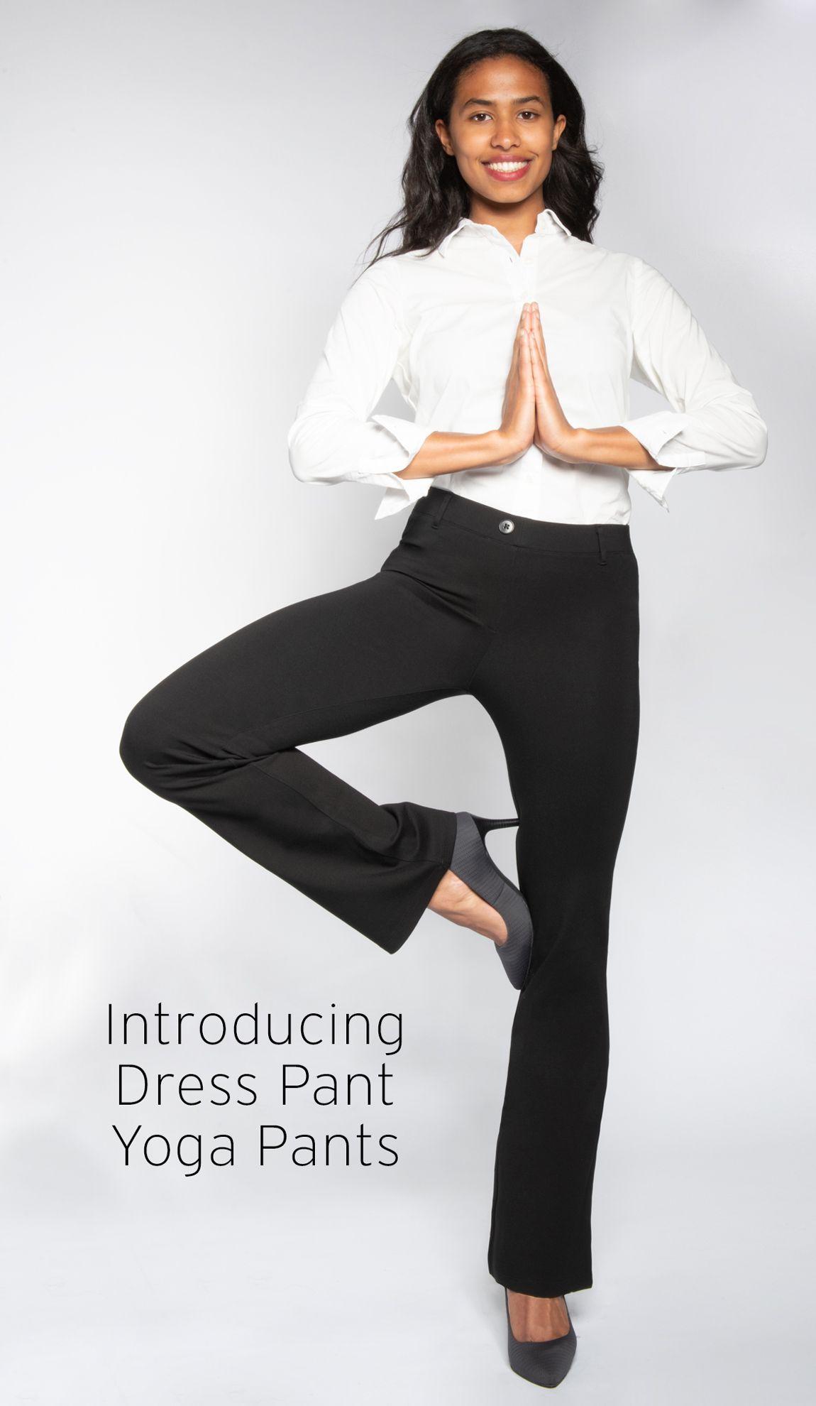 7ea15a579b210 Black Dress Pant Yoga Pants (Boot-Cut) | Athleisure Black Boot-Cut ...