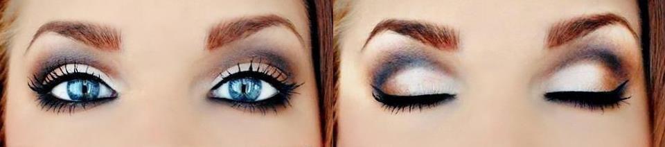 Para quem gosta de marcar as cavidades dos olhos, uma elegante maquiagem para deixar você linda! www.facebook.com/blacktienoivas