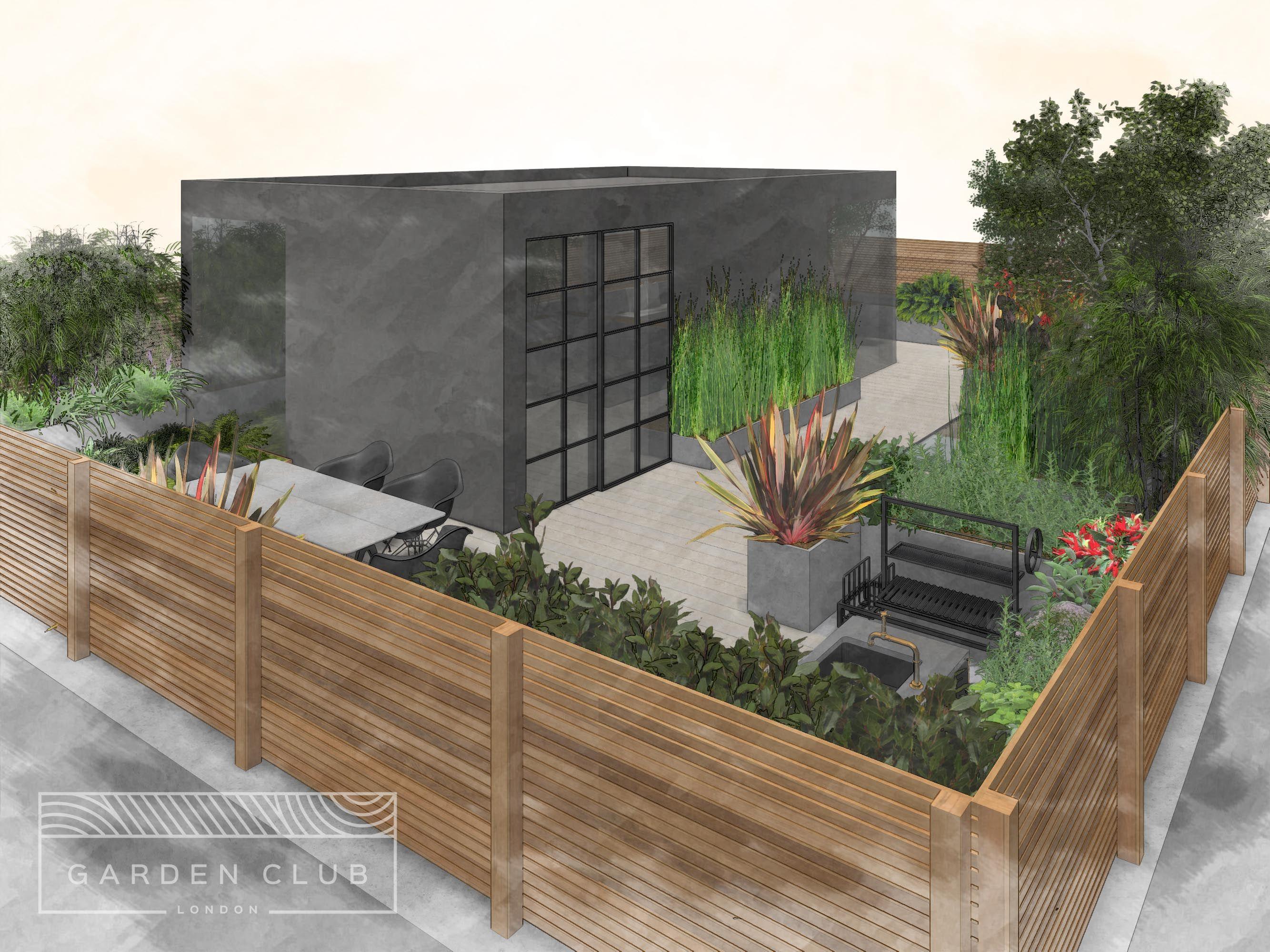 Rooftop garden design | Garden Club London | FormZ ...