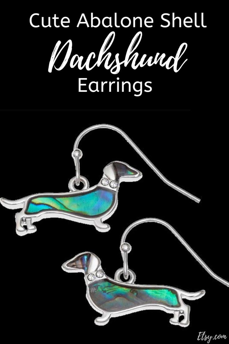 Dachshund Sausage Dog Earrings Abalone Shell Earrings Etsy Dog Earrings Dachshund Dachshund Jewelry