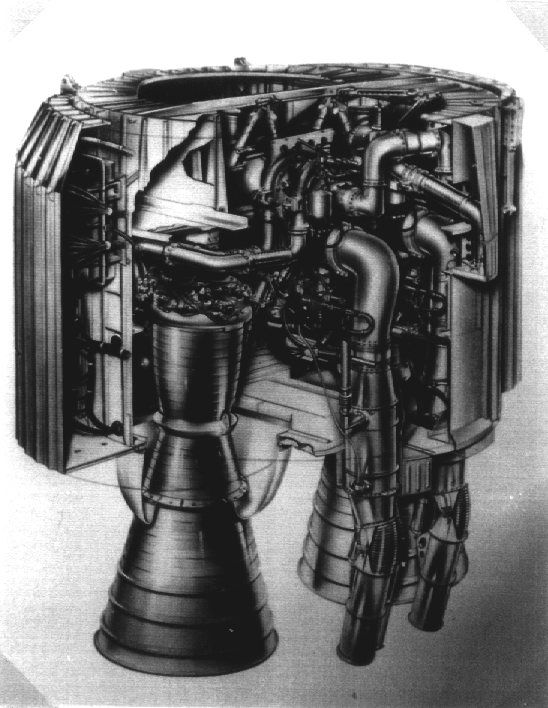 Cutaway Of Blue Streak    Europa Engine Bay  Showing Rolls