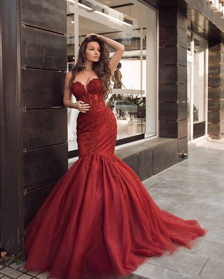 Designer Abendkleider Lang Rot | Abiballkleider Günstig ...