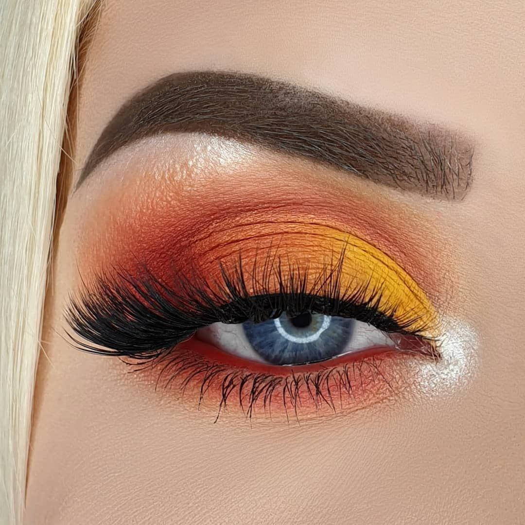 Photo of Wunderschönes Orange & Yellow Eye Glam | Perfekte Wimpern – Welcome to Blog