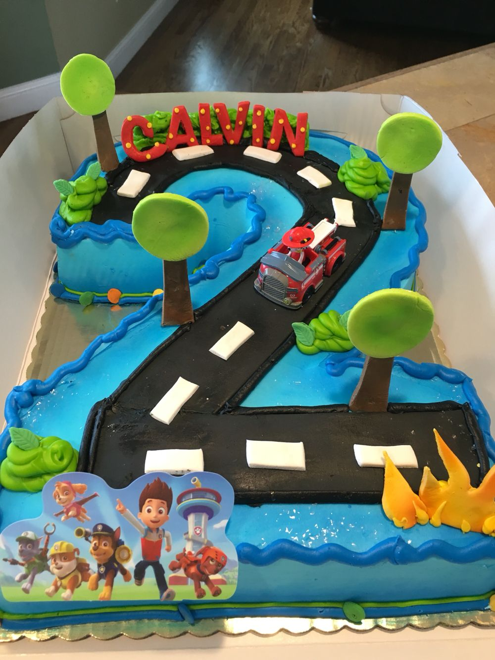 Paw Patrol 2nd Birthday Cake Shaped Numberkes Pinterest
