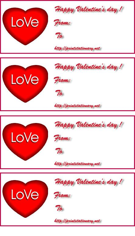 valentine printables Pinterest Label templates, Free - labels template free