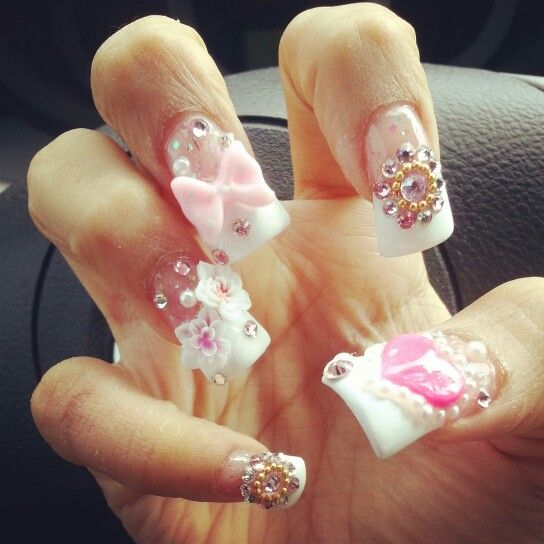 My 3D nails by Michelle at Blue Diamond nails Ontario, CA