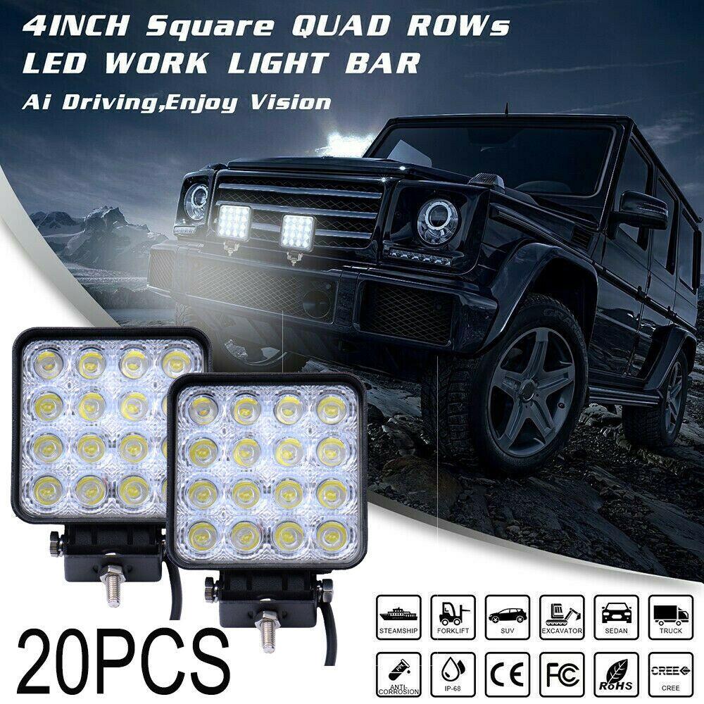 Ad Ebay 20pcs 48w Flood Led Off Road Work Light Lamp 12v 24v Cars Boat Truck Driving Ute Cars Trucks Trucks Work Lights