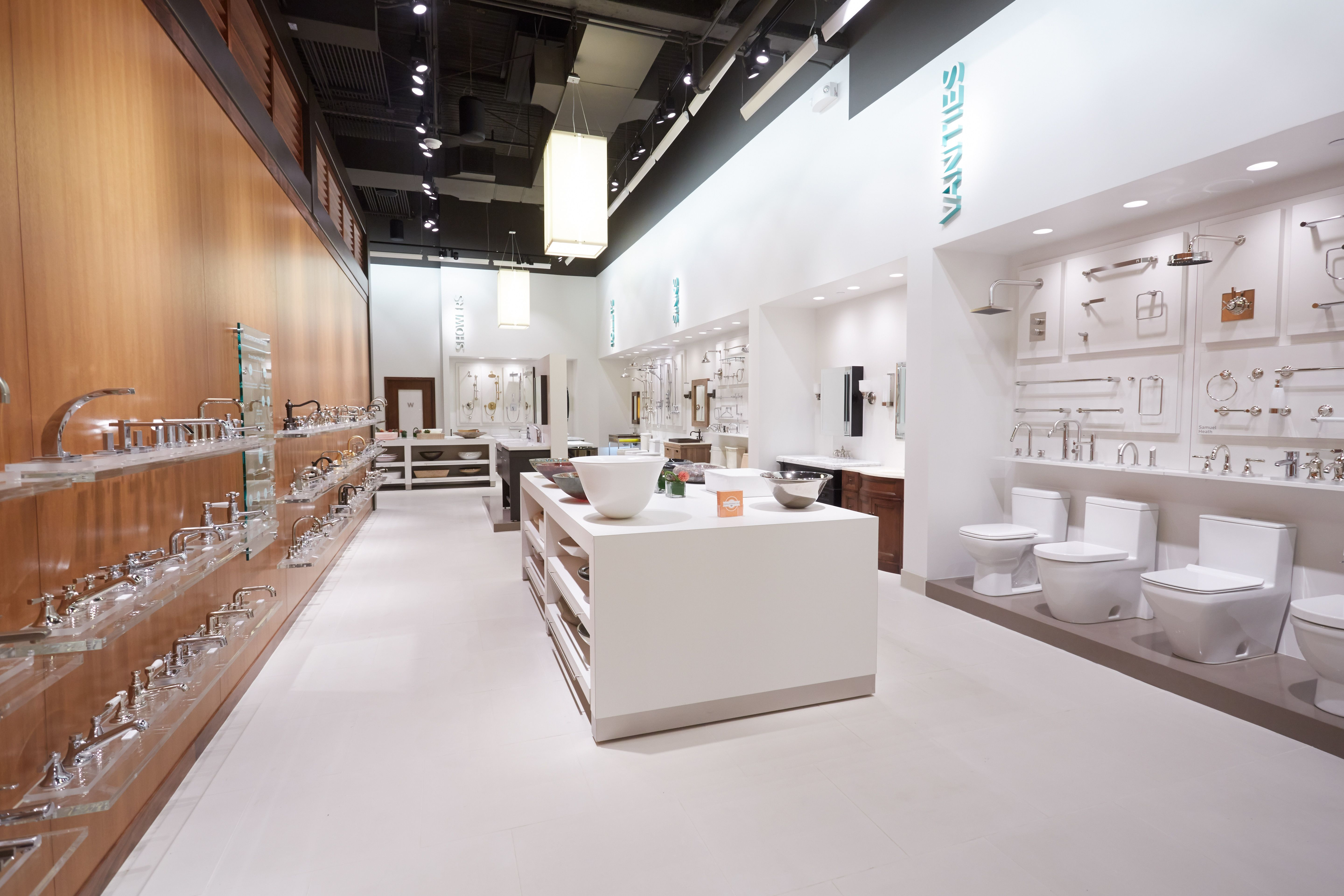 Faucets sinks toilets shower heads vanities and more - Bathroom design showroom dallas tx ...