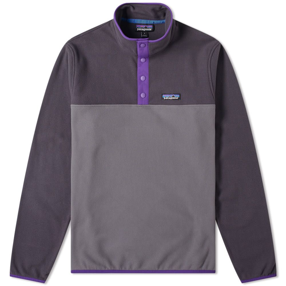 Patagonia Micro D Snap T Pullover Jacket Forge Grey End