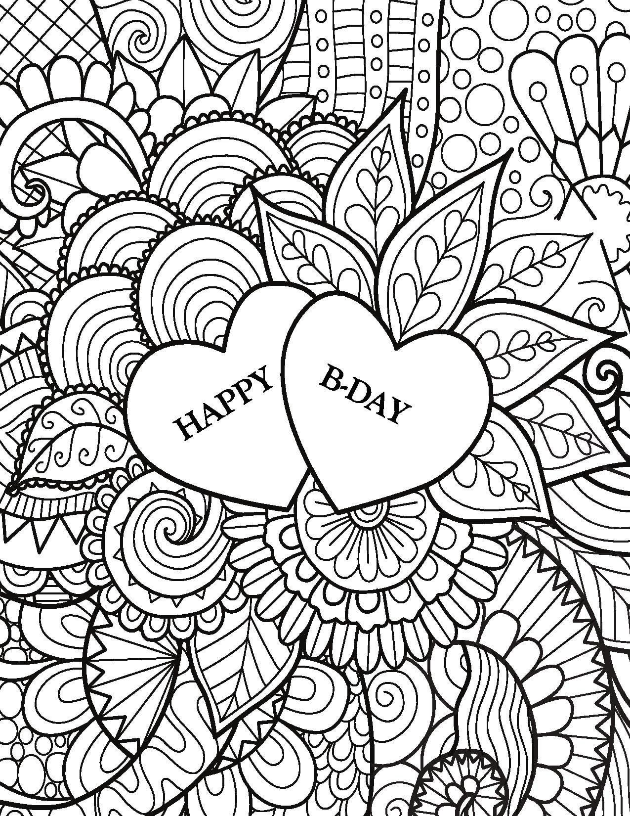 Let Coloring Book Zone Sweep You Away Into A World Of Calming Illustrations With Loving Birthday Wishes To He Coloring Books Colorful Art Toddler Coloring Book