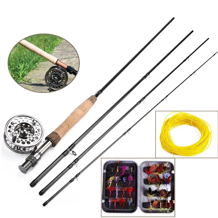 Fly Fishing Rod And Reel Combo Gift Fly Fishing Rods Fishing Rods Reels Rod Reel