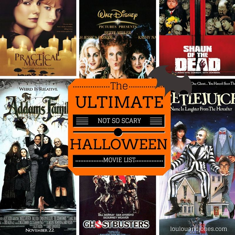 The Ultimate Not So Scary Halloween Movies List | Halloween movies ...