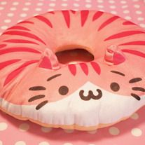 cat neko donut pink