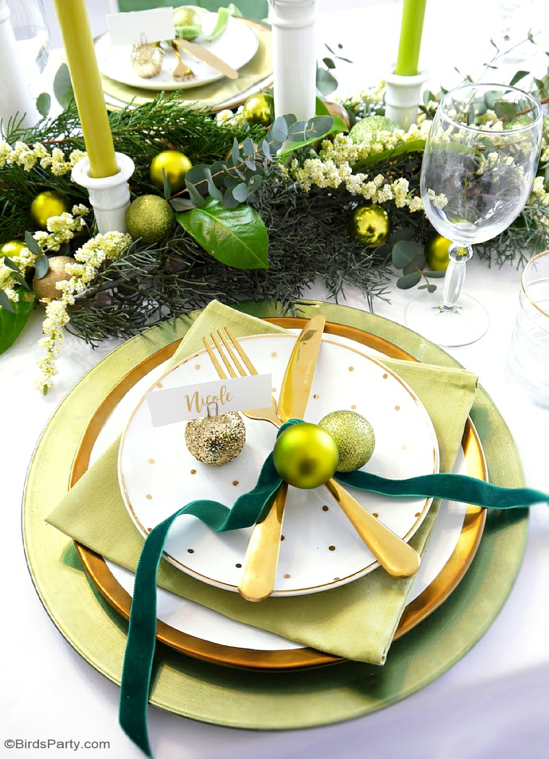 Green Gold Christmas Holiday Tablescape Holiday Tablescapes Christmas Party Decorations Gold Christmas Decorations