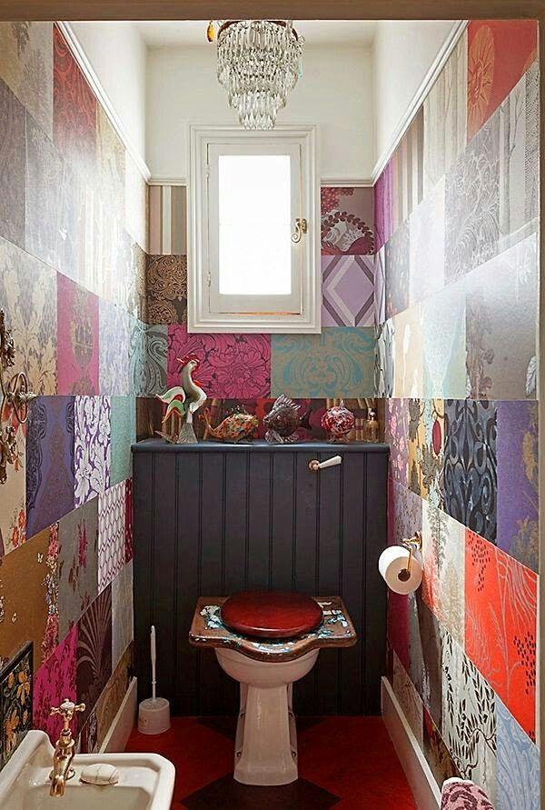 Patchwork toilet