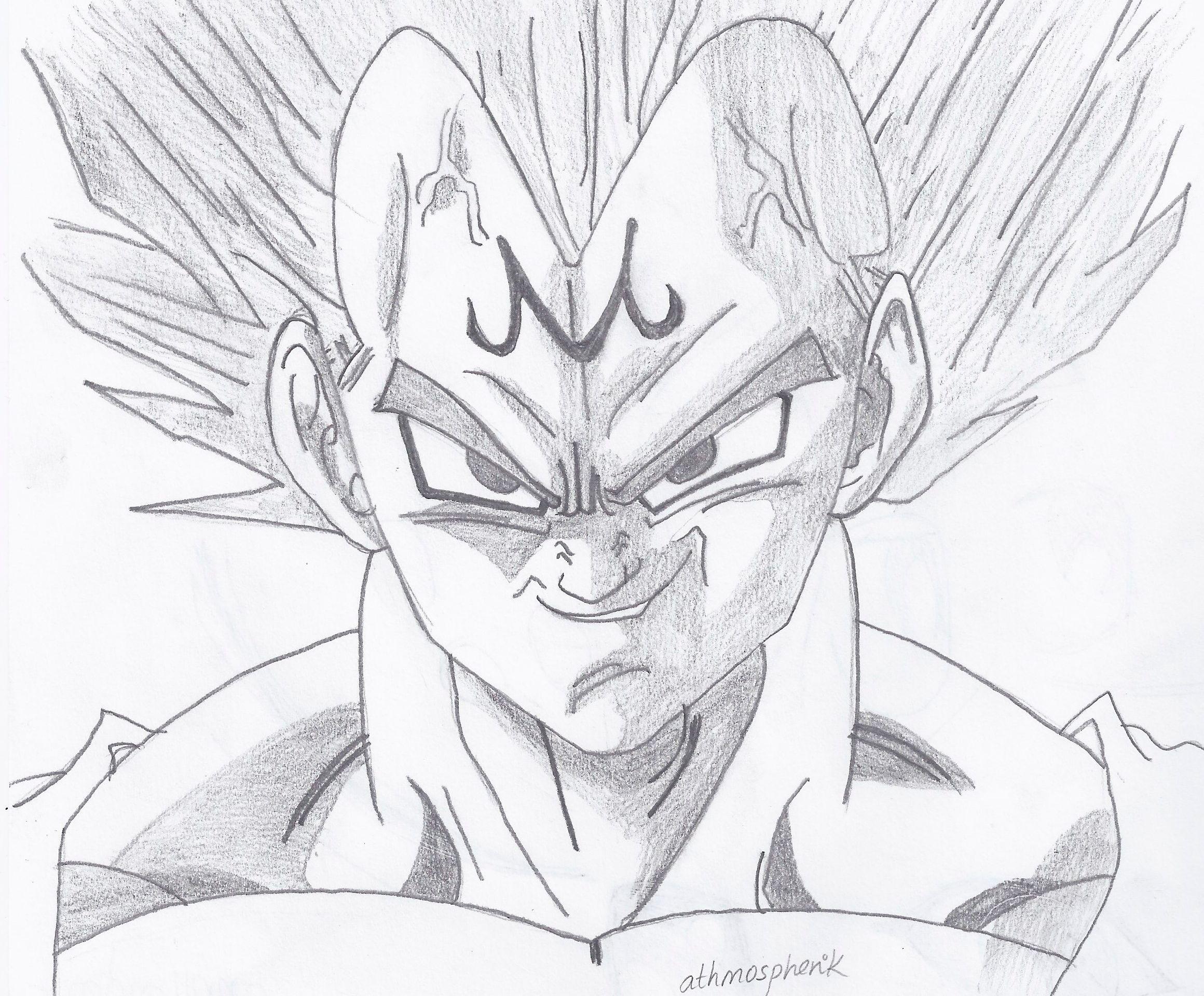 Dibujos Para Colorear De Dragon Ball Z Gohan Ssj2 Ideas: Dibujo De Vegeta. Continuamos. Best Vegeta Goku Dragonball