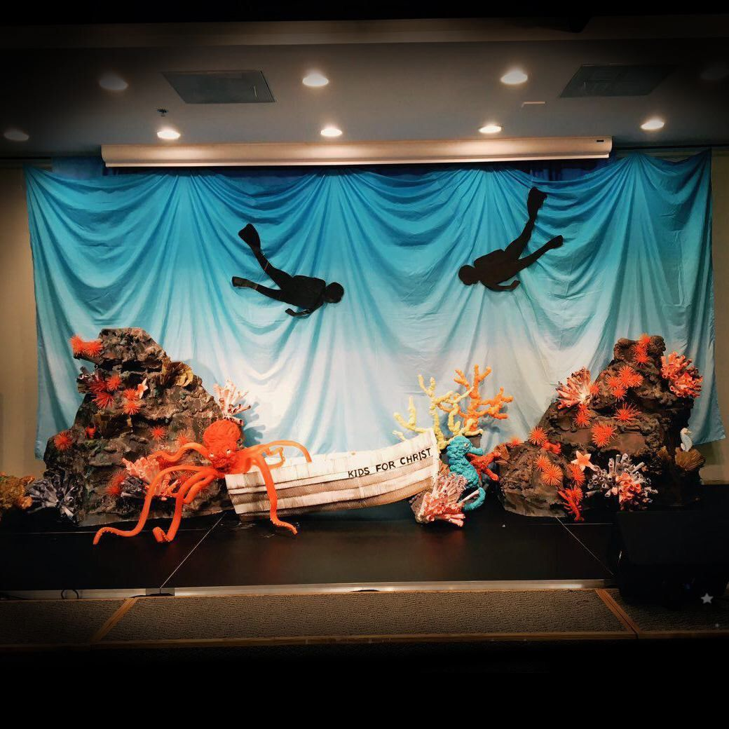 Under Water Theme Deep Sea Discovery Stage Design For