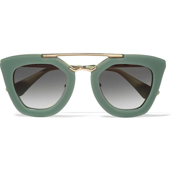 781c8002f98e7 Prada Cat-eye acetate and metal sunglasses ( 220) ❤ liked on Polyvore  featuring accessories