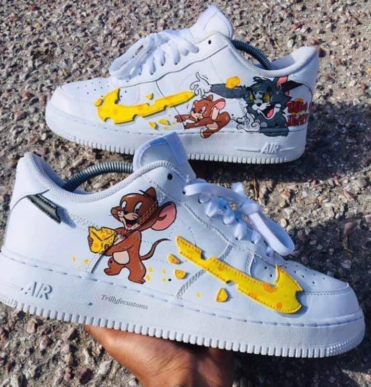 Tom \u0026 jerry Forces | Custom nike shoes