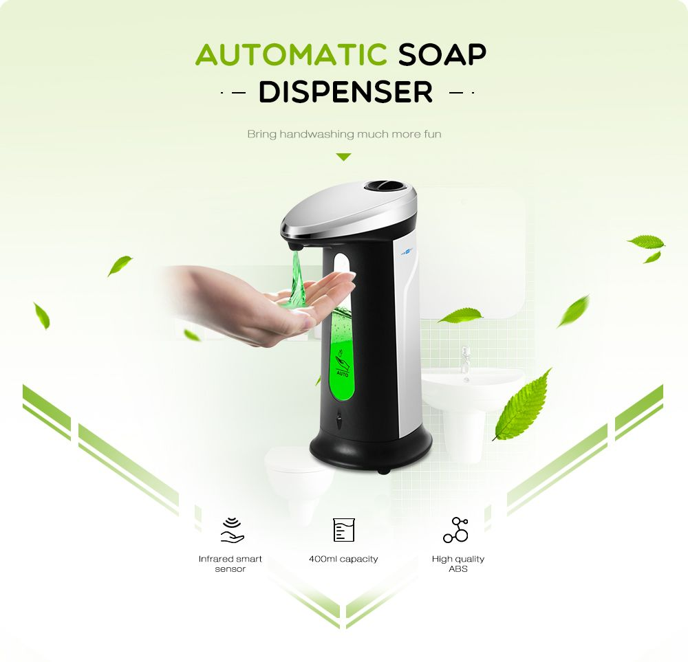 Ad 03 400ml Abs Electroplated Automatic Soap Dispenser Touchless
