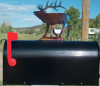 Elk Mailbox Topper Western Home Decor Metal Homes Western Homes