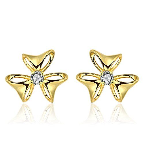 LEKANI Graceful Girl Inlaid Plating Fashion Earrings ** Want additional info? Click on the image. Note:It is Affiliate Link to Amazon.