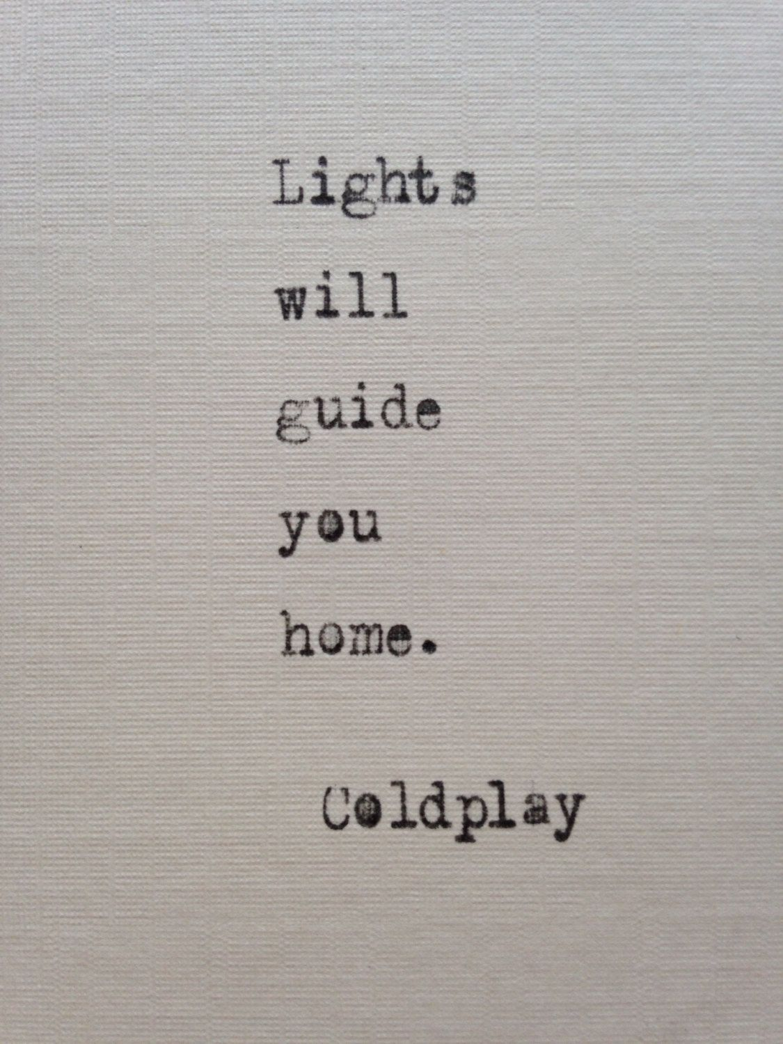Coldplay Lyrics Typed On Typewriter Unique Gift Valentines Day Quotes For Husband Valentine S Day Quotes Valentine Quotes