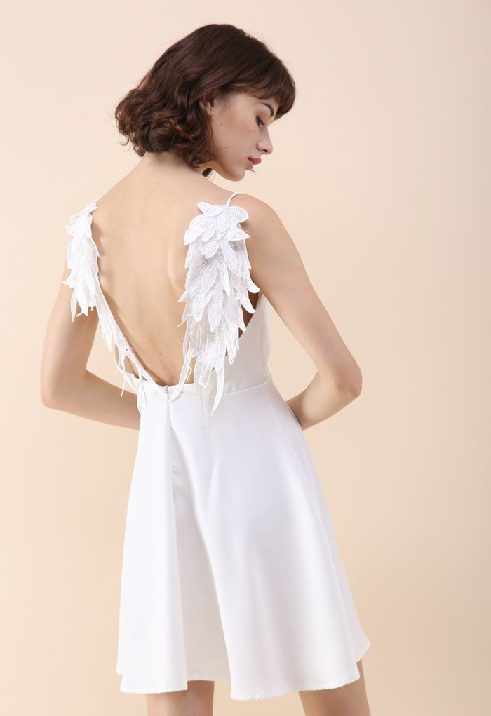 Angel's Wings Cami Dress in White white L