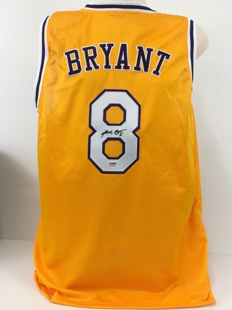 849b2af90b3 Kobe Bryant Signed Autographed Custom Lakers Jersey PSA/DNA RARE Early Full  Sig please retweet