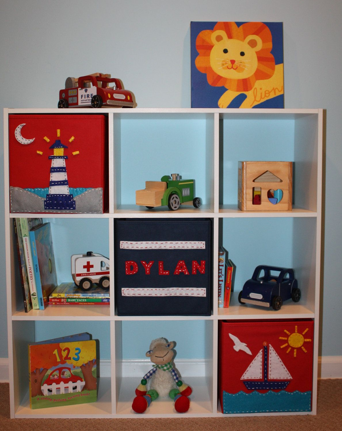Lovely Personalized Storage Bins For Kids #1 - Personalized Storage Bin For Toy Room