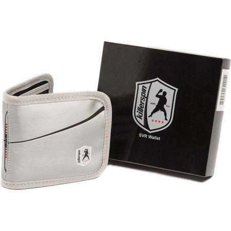 Killerspin 620-01 SVR Wallet with Hidden Pockets, Silver and Black