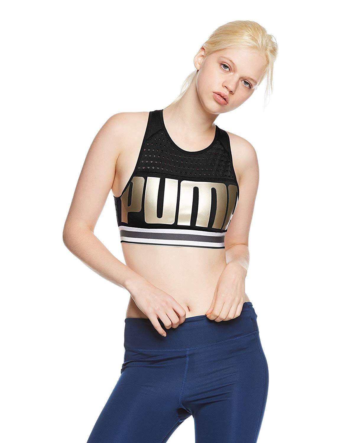 9c1e4e0adde4f Puma Women s M Bra Top  Amazon.co.uk  Sports   Outdoors
